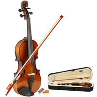 Wholesale Free Ship From USA Natural Acoustic Violin Case Bow Rosin New