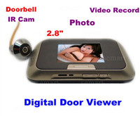 Wholesale Bright quot LCD Digital Door Viewer Peephole Camera Video Photo DVR Record Anti pry MINI DOOR PHONE