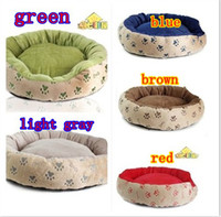 Wholesale Washable dog footprints paws pet nest cat litter puppy kennel pet supplies dog kennel color