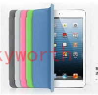 Wholesale 1 Smart Cover Magnetic Leather Case for inch Ipad Mini Tablet PC Stand