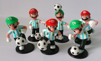 Wholesale Creative PVC Toys Mario Argentina Football Team Figures Collection Kids Xmas Christmas Gift in