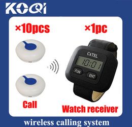 DHL freeshipping Hot sell Pager calling system restaurant paging system Can show total coming calls