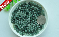 Wholesale 5mm mm Green Jade Round Gemstone loose beads