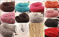 Wholesale 100m Man made Leather Braid Rope Hemp Cord For Necklace Bracelet mm U Pick