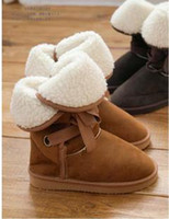 Wholesale Winter Woolen Lace Up Snow Women Boots Shoes ladies