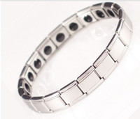 Wholesale Fiber Magnetic Health Bracelet president stones stainless less germanium bracelet power bracelet