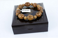 Wholesale Fashion exorcise Handcrafted wingceltis Wooden beads bracelet mm men women good luck