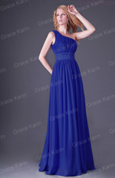 Wholesale Hot Sale Classical One Shoulder Long Sheath Dress Bridesmaid Dresses Prom Party Gown CL2288