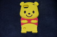 Wholesale 3D Cute Bear Winnie The Pooh Case Cover for Apple Ipod Touch Simpe OPP pack