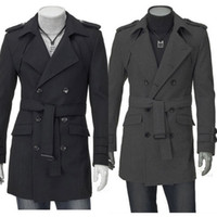 Wholesale men s outerwear jacket New Men s coat UK Style High Quality Stylish Woolen Trench Coat