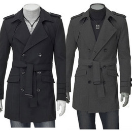 Wholesale 2012 New Men s UK Style High Quality Stylish Woolen Trench Coat