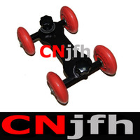 Wholesale NEW Red lbs TableTop compact Dolly Kit Skater wheel Camera Truck for D D D80 video DSLR