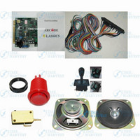 Wholesale 1 set arcade machine parts and PCB include in classic game board Harness red buttt