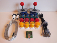 Wholesale Arcade parts Bundles kit With Joystick Pushbutton Microswitch player USB to Jamme board to Build U