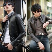 Cheap Men leather jacket Best Water Resistant Regular jacket coat
