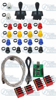 Wholesale Arcade parts Bundles kit With American Joystick Pushbutton Microswitch player USB board to Build U