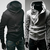 Wholesale Top new men s sweatshirts Men Jacket Casual Zip Up Hoodie Sweat shirt Black Gray Coat