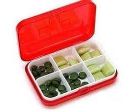 Wholesale Pack of Travel Size Compartments Pill Organizer Novelty Gift Pill Medicine Box