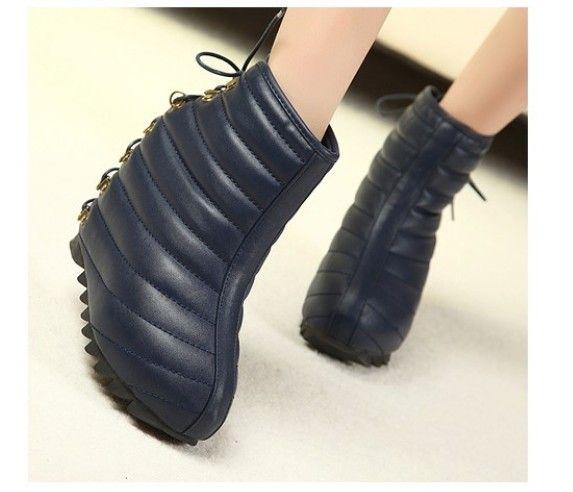 NEW Fashion snow boots leather wedges shoes women's shoes Frenum shoes