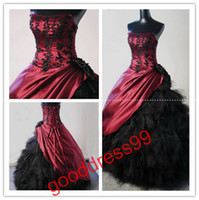 2013 New Prom Dresses Ball Gown Strapless Floor length Taffe...