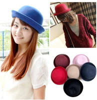 Wholesale Retro Style Wool Stunning Gracious Women Cute Trendy Bowler Derby Hat Cloche New