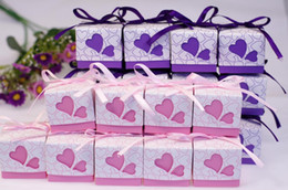 Wholesale 2013 New Arrival Wedding Favor Candy Box Pink And Purple Candy Bag Wedding Gift Favor Holders