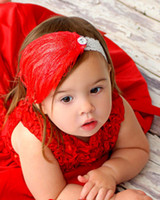 Wholesale Baby headband baby girls fashion cute Christmas head band feather hair band infant Hair ornament
