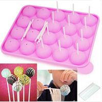 Wholesale Silicone Cake Stick Pops Mould Cupcake Baking Tray Pop Mold Party Kitchen Tools