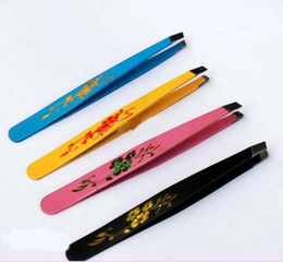 Wholesale DP027 New Mini Stainless Steel Eyebrow Hair Tweezer Color painting tweezers