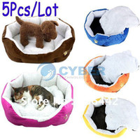 Wholesale Hot Sale Pet Product Pet Dog Puppy Cat Soft Fleece Warm Bed House Plush Cozy Nest