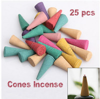 Sandalwood   Mix Stowage Triple Scent Colorful Fragrance Incense Cones Potpourri