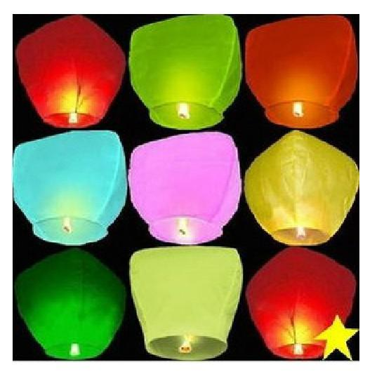 20 Chinese Sky Fly Lanternes feu souhaitent Wedding Party Anniversaire Multi Col