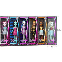 Wholesale retail High school girl Monster High schools Bobbi doll zombie Girl Figure Girls Toy Figure