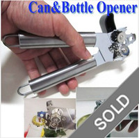 Wholesale Stainless Heavy Duty Tin Can Bottle Opener Open Camping Hiking Home Kitchen Tool