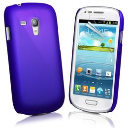 Caoutchouc pression en Ligne-50pcs caoutchouc Snap-on Hard Cover affaire + 50pcs protection d'écran pour Samsung Galaxy S3 mini- I8190