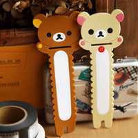 Wholesale Rilakkuma series humming roll up Mobile earphone bobbin Winder FreeShipping