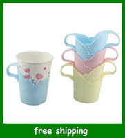 Wholesale Hot Disposable cup holder kitchen tools colorful plastic Paper cups holders gifts