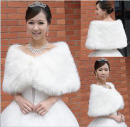 Wholesale 2013 New Bridal Pearl long fur Wedding Fur Wrap Cape Shawl Jackets coat wrap tippet