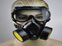 Wholesale Gas mask dual gas respirator Face Shield Industrial Safety Equipment Mask and glasses
