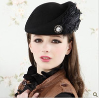 Wholesale Korea Version Fashion Winter Women s Cute Wool Felt Hat billycock QY12112401