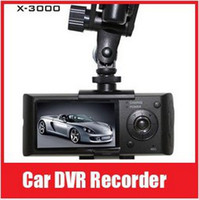 Wholesale Car dvr Video Recorder With GPS Logger and Dual Lens Camera Degrees D G Sensor X3000