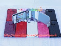 Wholesale Flip Wallet credit card holder Snake Crocodile PU leather plastic case pouch for iphone G