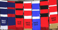 Wholesale Top quality football match fans scarf wool knitted winter soccer scarf CM CM pc
