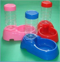 Wholesale pet drinker Pink Blue Red plastic pet dog dish water bowl