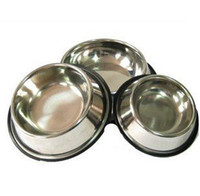 automatic pet feeder stainless steel - Stainless steel bowl Dog bowl Pet supplies Cat bowl