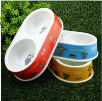 Wholesale Pet food bowl Double mouth bowl Pet supplies