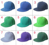 Wholesale Mix Order Colors Adjustable Snapback Hats Snap back hat Snapback caps Blank Solid cap