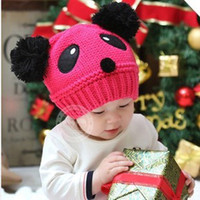 Wholesale 5Pcs Winter Fashion Korean Version Of Cap Young Children Cute Baby s Hat Panda Reader Hat