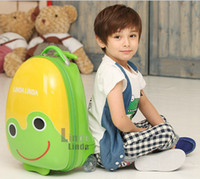 Wholesale Children luggages children draw bar box large capacity fashion frog modelling boys girls