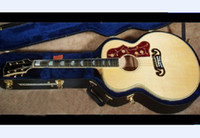 Wholesale best china guitar STANDARD SUPER JUMBO ACOUSTIC ELECTRIC NATURAL OEM Musical Instruments